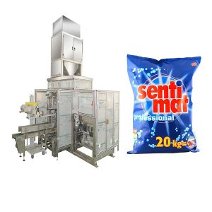 Αυτόματη Premade Μεγάλη τσάντα Συσκευασία μηχανή απορρυπαντικό σκόνη Open-mouth Bagger