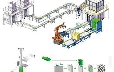 γραμμή παραγωγής παλετοποίησης δευτερευόντων συσκευασιών