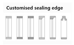 customised sealing edge